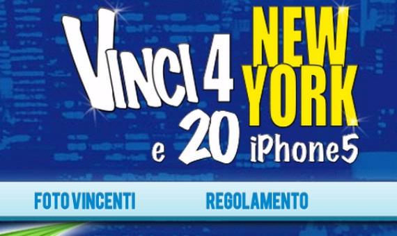 Concorso Vinci 4 New York e 20 iPhone5